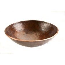 Round Old World Hand Forged Copper Vessel Sink