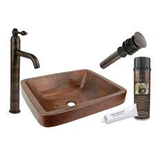 <strong>Premier Copper Products</strong> Skirted Vessel Bathroom Sink