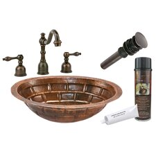 <strong>Premier Copper Products</strong> Stacked Stone Under Counter Bathroom Sink