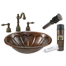 <strong>Premier Copper Products</strong> Sunburst Self Rimming Hammered Sink