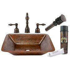 <strong>Premier Copper Products</strong> Under Counter Hammered Bathroom Sink