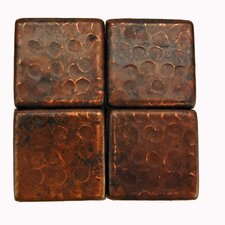 "<strong>Premier Copper Products</strong> 2"" x 2"" Hammered Copper Tile in Oil Rubbed Bronze"