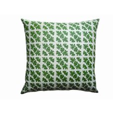 Hand Printed Canvas Shade Check Pillow