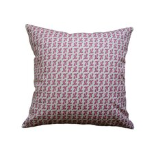 <strong>Balanced Design</strong> Hand Printed Canvas Bird's Feet Pillow