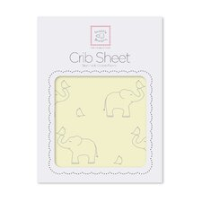 Sterling Decorative Elephants Cotton Fitted Crib Sheet