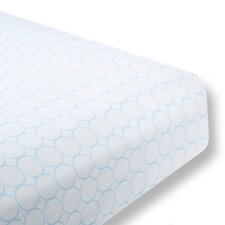 Mod Circles Cotton Fitted Crib Sheet