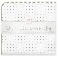 Ultimate Receiving Blanket® in Sage Polka Dots