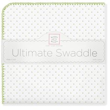 Ultimate Receiving Blanket® in Kiwi Polka Dots