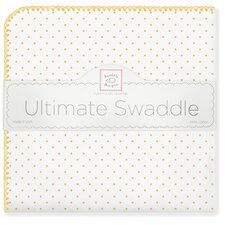 Ultimate Receiving Blanket® in Bright Yellow Polka Dots