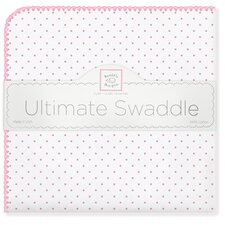 Ultimate Receiving Blanket® in Bright Pink Polka Dots