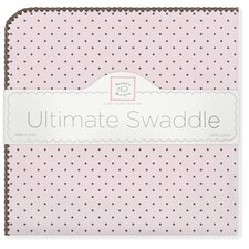 Ultimate Receiving Blanket® in Pastel with Brown Polka Dots