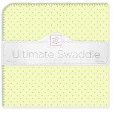 Ultimate Receiving Blanket® in Kiwi with Pastel Polka Dots and Pastel Trim
