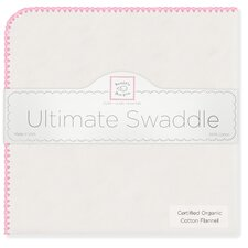 Organic Ultimate Receiving Blanket® in Natural with Bright Pink Trim