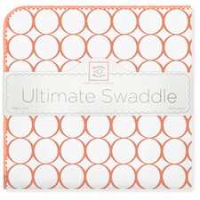 Ultimate Receiving Blanket® in Orange Mod Circles on White