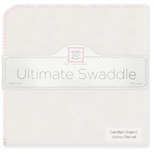 Organic Ultimate Receiving Blanket® in Natural with Pastel Pink Trim