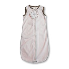 <strong>Swaddle Designs</strong> zzZipMe Sack in Pastel Pink Baby Velvet Solid Pastel with Mocha Trim