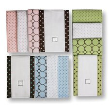 <strong>Swaddle Designs</strong> Baby Burpies® in Pastel with Brown Mod Circles (Set of 2)