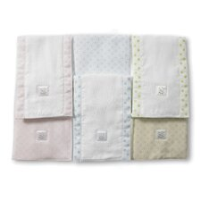 <strong>Swaddle Designs</strong> Baby Burpies® in Pastel with Pastel Polka Dots and Trim (Set of 2)
