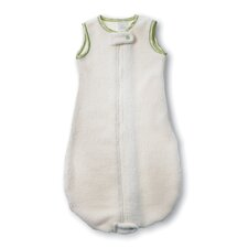 Organic zzZipMe Sack in Natural with Kiwi Trim
