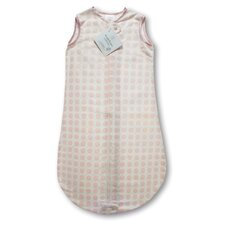 <strong>Swaddle Designs</strong> Certified Organic Cotton Flannel zzZipMe Sack in Pastel Pink with Dots and Stars