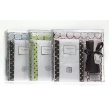 3 Piece Gift Set in Pastel with Brown Mod Circles