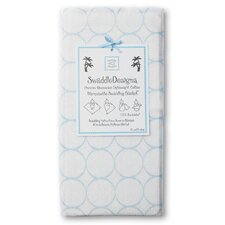 Marquisette Swaddling Blanket in Mod Circles on White