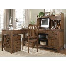 Hearthstone 5-Piece L-Shape Desk Office Suite