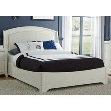 Leather Upholstered Platform Bed