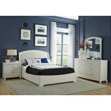 Leather Upholstered Platform Bedroom Collection