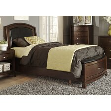 Leather Upholstered Storage Platform Bed