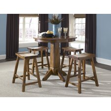 Creations II Casual Dining Pub Table in Tobacco