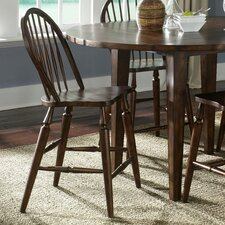 Cabin Fever Formal Dining Windsor Back Barstool in Bistro Brown