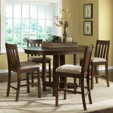 <strong>Liberty Furniture</strong> Urban Mission Casual 5 Piece Counter Height Dining Set