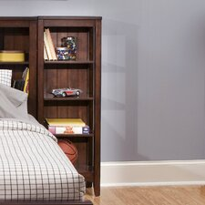 Chelsea Square Youth Bedroom Student Bookcase in Burnished Tobacco