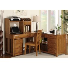 Hampton Bay Computer Credenza in Oak