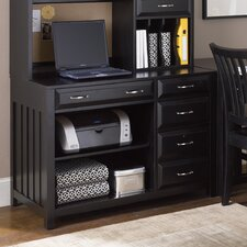 Hampton Bay Computer Credenza in Black