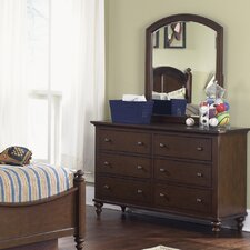 Abbott Ridge 6 Drawer Dresser with Optional Mirror
