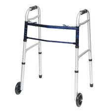 Sure Release Folding Walker with Wheels