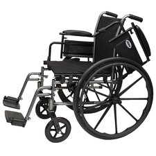 "Adjustable Arm Height 16"" Lightweight Wheelchair"