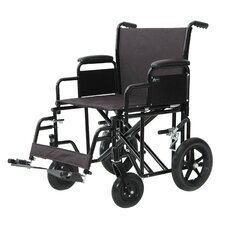 "22"" Bariatric Transport Wheelchair"