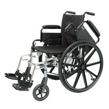 "Flip Back Arm 20"" Lightweight Wheelchair"