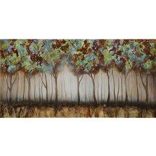 Revealed Artwork Nature Walk Painting Print on Canvas