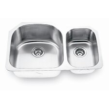 "31.5"" x 20.63"" x 9"" Undermount Double Bowl Kitchen Sink"