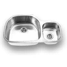 "35.38"" x 20"" Undermount Double Bowl Kitchen Sink"