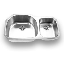 "37.63"" x 20.88"" Undermount Double Bowl Kitchen Sink"