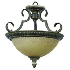 <strong>Yosemite Home Decor</strong> Mariposa 2 Light Semi Flush Mount