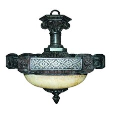 <strong>Yosemite Home Decor</strong> Tuscany 2 Light Inverted Pendant