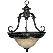 <strong>Yosemite Home Decor</strong> Verona 3 Light Foyer Inverted Pendant