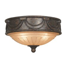 <strong>Yosemite Home Decor</strong> Isabella 3 Light Flush Mount