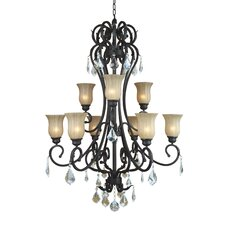 <strong>Yosemite Home Decor</strong> Jessica 9 Light Chandelier